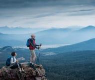 Couple hiking Royalty Free Stock Photo