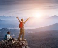 Couple hiking Stock Image