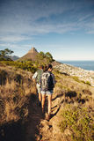 Couple hiking in nature Royalty Free Stock Image