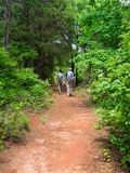 Couple Hiking Near Providence Canyon Royalty Free Stock Images