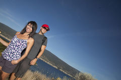 Couple Hiking Stock Photography