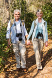 Couple hiking outdoors Royalty Free Stock Image