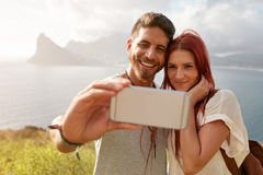 Couple hiking on a summer day Royalty Free Stock Photo