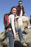 Couple Hiking Together Royalty Free Stock Photography