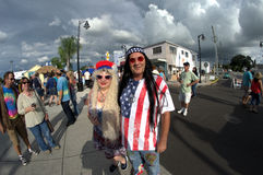 Couple at Hippie Festival Tarpon Springs,Florida.  Stock Photography
