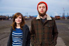 Couple Hipster Fashion Portrait Royalty Free Stock Image