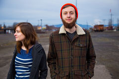 Couple Hipster Fashion Portrait Stock Image
