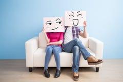 Couple hold billboard Royalty Free Stock Photos