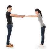 Couple hold hands Royalty Free Stock Image