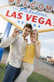 Couple Holding Casino Chips Stock Photos