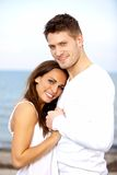 Couple Holding Each Other's Hands Posing Stock Photography