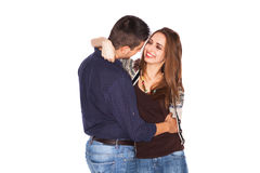 Couple holding each other Royalty Free Stock Photography