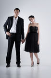Couple Holding Hand. On a plain white background Royalty Free Stock Images