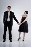Couple Holding Hand. On a plain white background Stock Photos