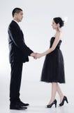 Couple Holding Hand. On a plain white background Stock Photo