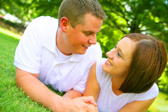 Couple Holding Hand Outdoor Royalty Free Stock Photo