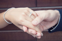 Couple holding hand Stock Photo