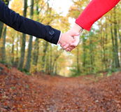 Couple holding hands Stock Photography