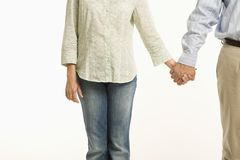 Couple holding hands. Stock Photo