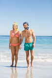 Couple holding hands on beach Royalty Free Stock Photos