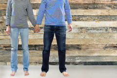 Couple holding hands together Royalty Free Stock Photos