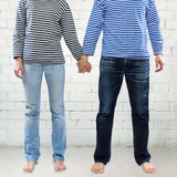 Couple holding hands together Royalty Free Stock Photography