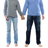 Couple holding hands together Stock Photo