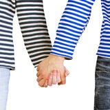 Couple holding hands together Royalty Free Stock Images