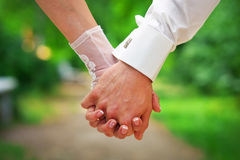 Couple holding hands. Royalty Free Stock Photos