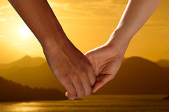 Couple holding hands Royalty Free Stock Image
