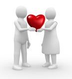 Couple holding a heart Stock Photo