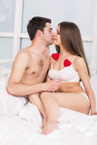 Couple holding heart Royalty Free Stock Photo
