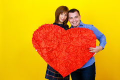 Couple holding heart Royalty Free Stock Images