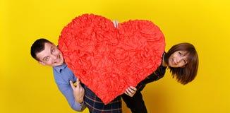 Couple holding heart Stock Photo