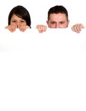 Couple holding a white Stock Photography