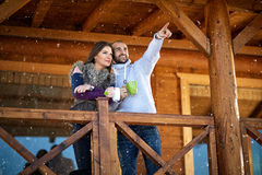 Couple on holiday in mountain Stock Photography