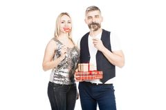 Couple at holiday stock photography