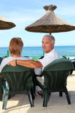 Couple on holiday together Stock Photography
