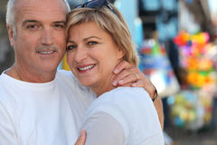 Couple on holiday together Royalty Free Stock Images