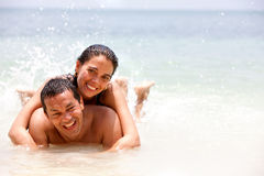 Couple on holidays Stock Photo