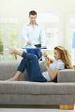 Couple at home Stock Photos