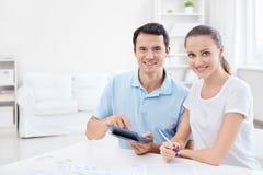 Couple at home Stock Photos