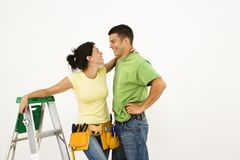 Couple in home. Royalty Free Stock Images