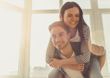 Couple at home Stock Images