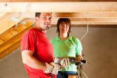 Couple in home improvement Royalty Free Stock Image