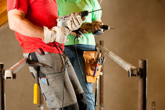 Couple in home improvement Stock Photos