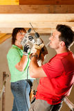 Couple in home improvement Royalty Free Stock Photography