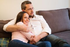 Couple in home interior Royalty Free Stock Photos