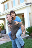 Couple at home in Love Stock Photography