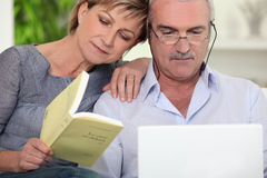 Couple at home relaxing Royalty Free Stock Image